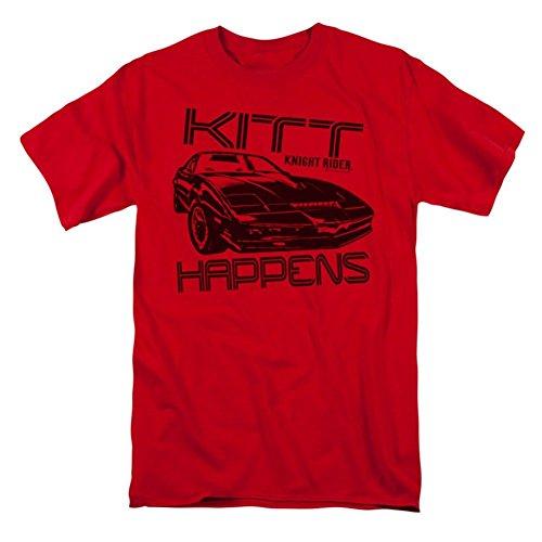 Knight Rider Men's Kitt Happens T-shirt Red