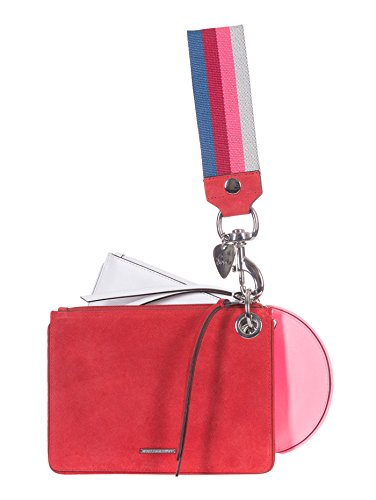 Rebecca Minkoff pochette tracolla, a strati, camoscio, multicolore, CM 20x16x3