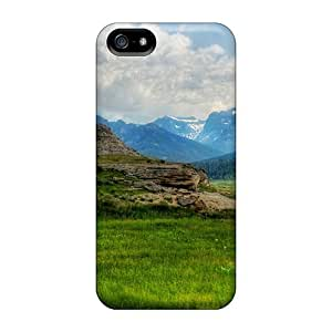Durable Defender Case For Iphone 5/5s Tpu Cover(meadow At Yellowstone)