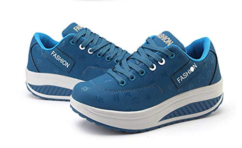 Mujeres Transpirables Wedges Calzado Zapatos Moda XINGMU Mujer Blue Casual Plataforma Zapatillas con Mujer Impermeables nfZxfvqTI