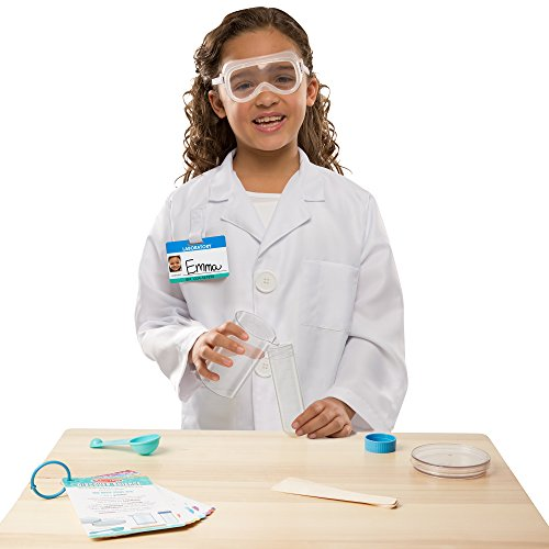 [Melissa & Doug Scientist  Role Play Costume Set, ] (Lab's Costumes)