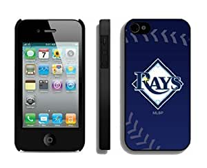 Custom Case for iPhone 5 5s Hard Cover Mlb Tampa Bay Rays Sport Design Coolest Phone Protector