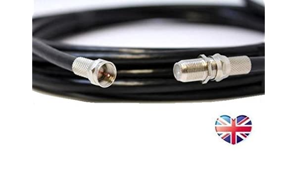 Generic dyhp-a10-code-2645-class-1 -- Tivo SUPERHUB Freesat T, Sky, Virgin Tivo negro 2 m cable coaxial cable de extensión Sate Satellite _ 2 m coaxial ...