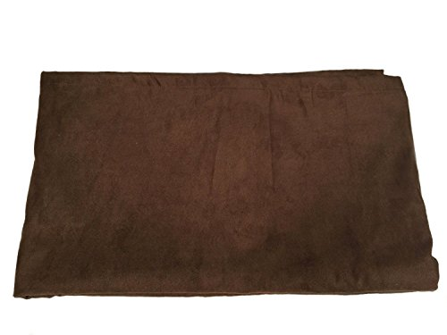Pillowtex Faux Suede Bed Scarf Queen 26''x82'' Dark Brown by Pillowtex