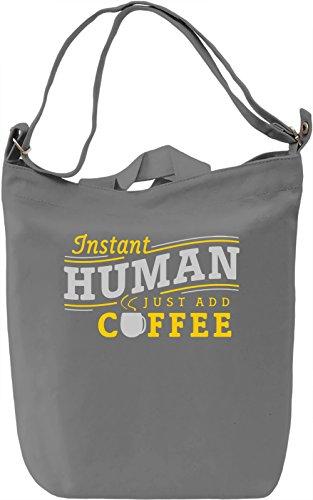 Instant Human Borsa Giornaliera Canvas Canvas Day Bag| 100% Premium Cotton Canvas| DTG Printing|