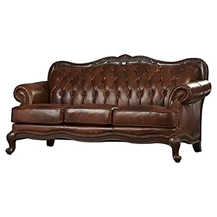 amazon com leather sofa exposed cabriole wooden legs with elegant rh amazon com elegant leather sofa bed elegant leather sofa bed