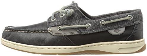 3b52322db2591 Sperry Top-Sider Women's Ivyfish Waxed Black Boat Shoe: Amazon.com ...