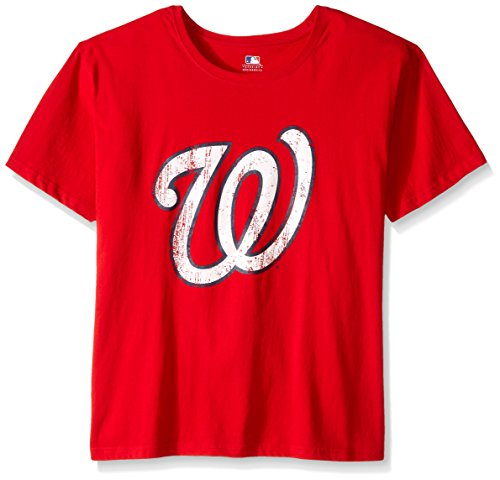 MLB Washington Nationals Women's Short Sleeves Scoop Neck Prime, 2X, Red – DiZiSports Store
