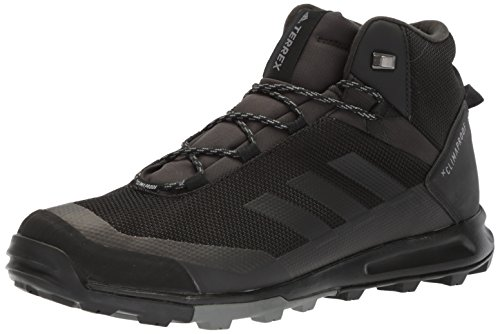 adidas outdoor Men's Terrex Tivid Mid CP Walking Shoe, Black/Black/Grey Four, 8.5 D US by adidas outdoor
