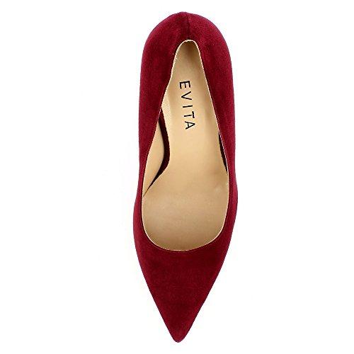 Evita Shoes Natalia Damen Pumps Rauleder Bordeaux