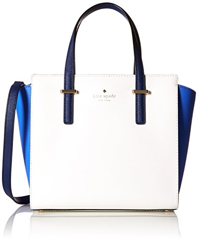 Kate Spade New York Cedar Street Small Hayden Satchel Bag, Adventure Blue/Bright White/Ocean Blue