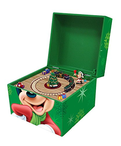 Disney Mickey Mouse Animated Train Wind Up Music Box - Plays