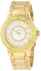 a_line Women's AL-80009-YG-02YL Marina White Dial Gold Ion-Plated Stainless Steel Watch