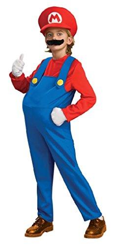 [Fancy Rubie's Deluxe Super Mario Bros Mario Child Costume] (Super Deluxe Mermaid Costumes)