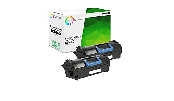 25,000 Pages TCT Premium Compatible Toner Cartridge Replacement for Dell 331-9756 Black High Yield Works with Dell B5460dn B5465dnf Printers