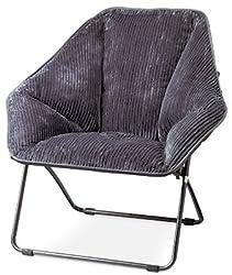 Gray Hexagon Folding Dish Chair