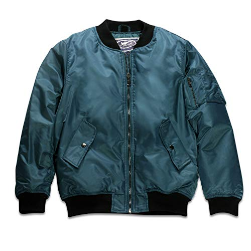 Up and Away Adult Blank MA-1 Flight Jacket Blue ()