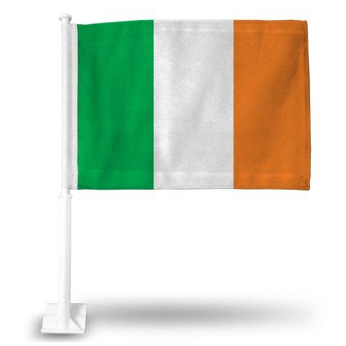Rico Ireland National Soccer Team Car Flag, with White Pole