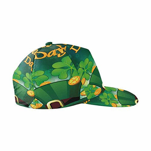 InterestPrint Saint Patric Days Plawith Hat, Clover and Treasure Unisex Hip Hop Outdoor Sport Snapback Hats -