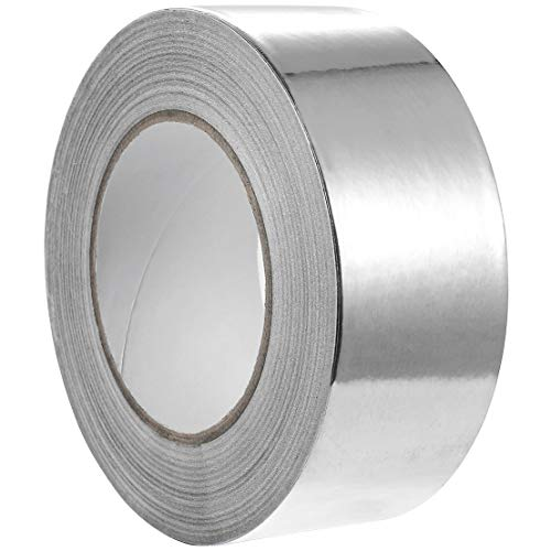Juvale Aluminum Tape - 55 Yards Aluminum Foil Tape HVAC, Ducts, Insulation Equipment Repair Adhesive Tape