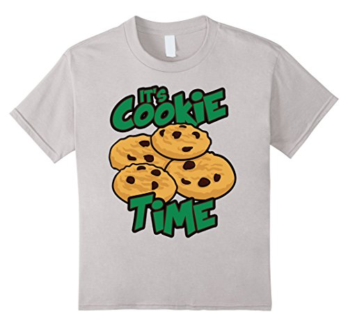 kids-scout-shirt-its-cookie-time-cookies-gift-for-girls-t-shirt-10-silver