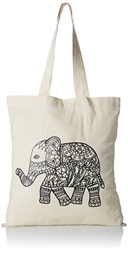 Coloring Tote Bag (Zendoodle Elephant Tote Bag for Adult Coloring)