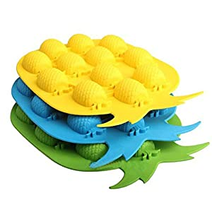 Ice Tray - Diy Pineapple Shape Ice Mold Drink Cream Cube Maker Bar Party Tray Freeze - Food Dinosaur Organic Gun State Kit To Circle For Game