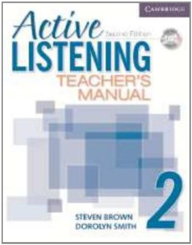 Active Listening 2 Teacher's Manual with Audio CD by Brand: Cambridge University Press