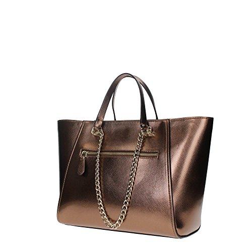 Guess handbag nikki chain tote bronze