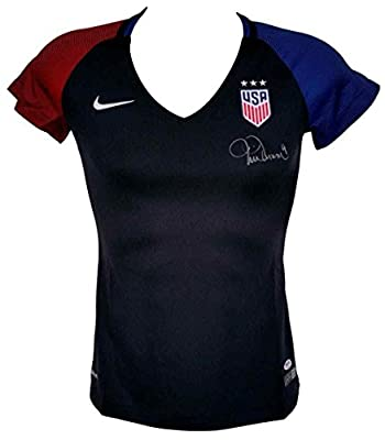 Mia Hamm Signed USA Women's Soccer Authentic Black Nike Jersey - PSA/DNA Certified - Autographed Soccer Jerseys