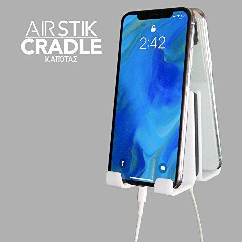 Kapotas AIRstik Selfie Phone Tablet Holder Cradle Mount Mirror Reusable Micro Suction- White by Kapotas