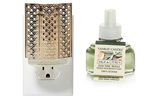 Yankee Candleモロッコランタンゴールド – Night Light scent-plug Air Freshener Base with Sage & Citrus Home Fragrance Electric Refill B01IMFM0R0