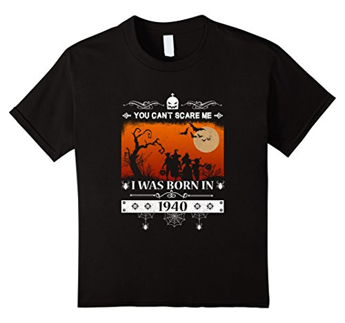 Kids Made in 1940 - 77 Birthday - Halloween T-shirt 6 Black