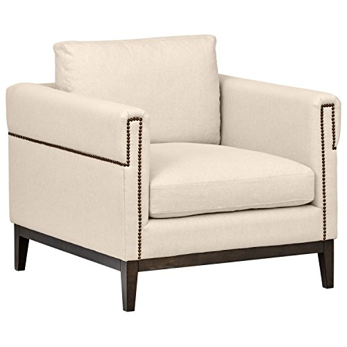 (Stone & Beam Westport Modern Nailhead Upholstered Accent Arm Chair, 36