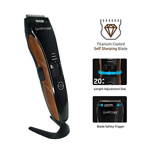 Groomiist Copper Series Corded/Cordless Beard Trimmer CS-24 (Black & Wood)