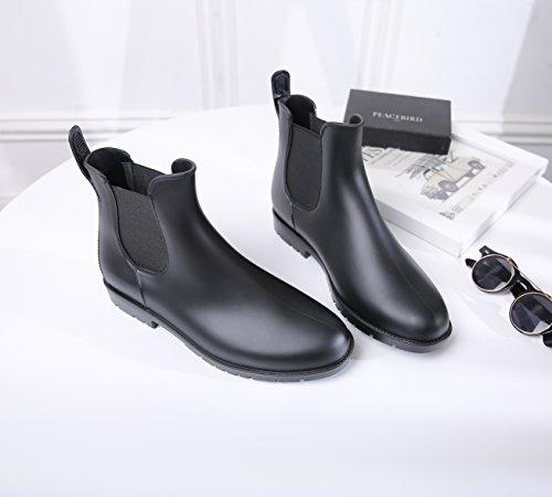 Scarpe Scarpe Equitazione Boots Black Black Black Mini da Nero Chelsea Stivaletti da Moda da Stivali Pioggia Balabala Donne XXHqgv