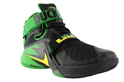 Heren Nike Zoom Soldier 9 Ix Prm Lebron Oregon Ducks Zwart Groen 749490-073 (9)