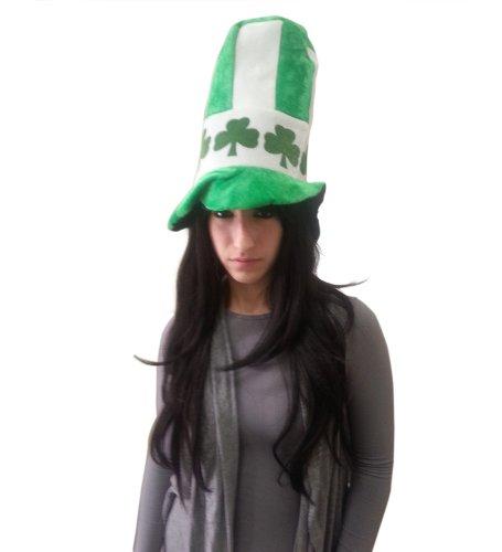 Irish Velvet Shamrock Top Hat -St Patrick (Party City Top Hat)