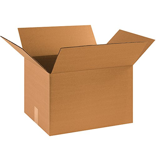 BOX USA Medium Moving Boxes (Pack of 20) for Packing, Shipping, Moving and Storage (14x14x24 Cardboard Box)