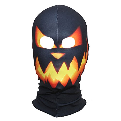 AXBXCX Polyester Fleece Costume Skin Masks Halloween Party Full Cover Hood Mask Neck Gaiter Warmer Blaclava Pumpkin Head for Dust Music Festivals Raves Ski Motorcycle Snowboard ()