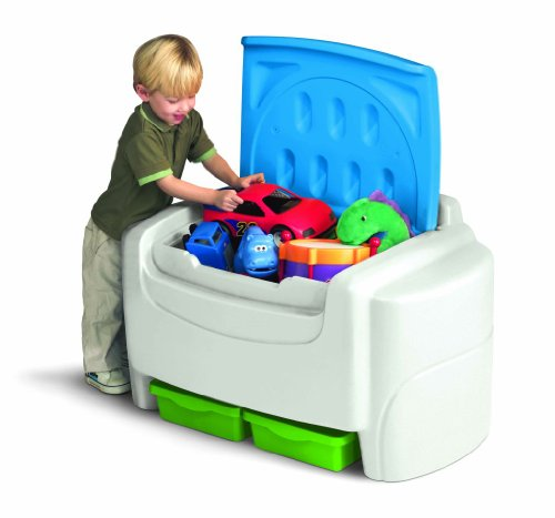 Childrens Toy Box - Little Tikes Bright 'n Bold Toy Chest - Green/Blue