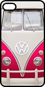 Classic Pink VW Bus Van Black Plastic Case for Apple iPhone 6 Plus