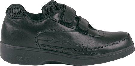 Aetrex Women's Ambulator 2 Strap Active Walker Walking Shoes,Black Leather,13 W US by Aetrex