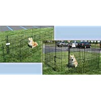 Mascota Tek DPK86530 Pluma de ejercicios para perros de la serie Dream Zone Professional Metal con puerta, 30 pulgadas, negro