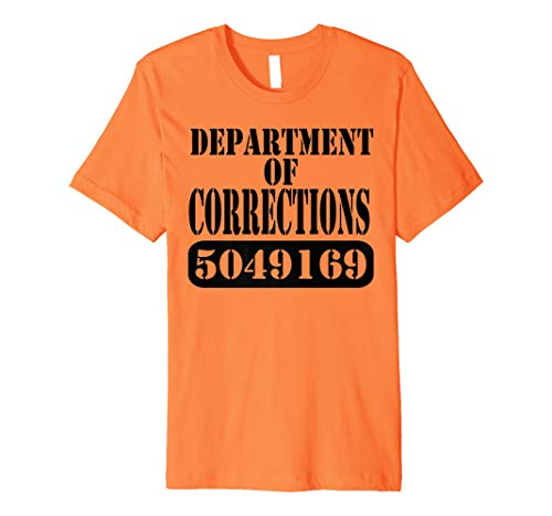 Department of Corrections Prisoner Halloween Costume -