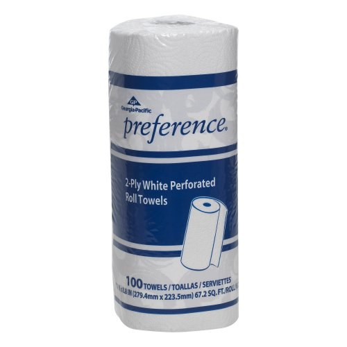 Georgia Pacific Preference 27300 White 2 Ply Perforated Paper Towel Roll    Wxl  11 000  X 8 800   Case Of 30 Rolls  100 Towels Per Roll