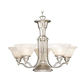 Vaxcel CH30306A Standford 6 Light Chandelier, Antique Brass Finish