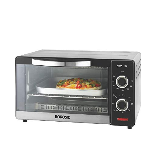 Borosil Prima 10 L OTG With 3 Cooking Modes 1000 W Silver