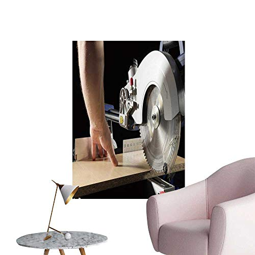 (SeptSonne Wall Art Prints Carpenter cutt flaxboar us SLI compoun mitre Saw for Living Room Ready to Stick on Wall,12