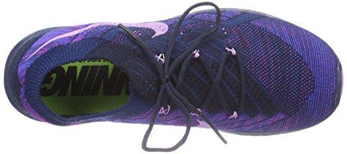 NikeFree 3.0 Flyknit - Zapatillas de running para mujer Multicolor ( Dark Obsidian / Fchs Glow - Brv Bl 400 )